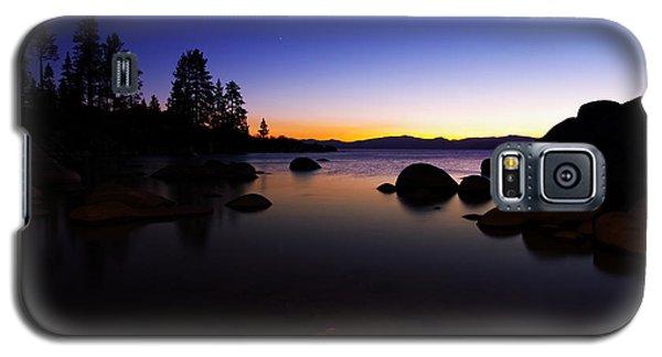 Lake Tahoe Sand Harbor Sunset Silhouette Galaxy S5 Case