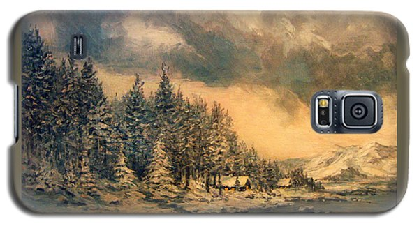 Galaxy S5 Case featuring the painting Lake Tahoe Winter Colors 2 by Donna Tucker
