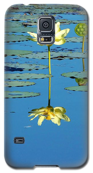 Lake Thomas Water Lily Galaxy S5 Case by Chris Mercer