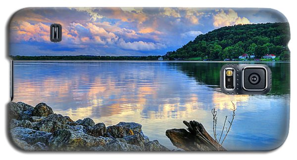 Galaxy S5 Case featuring the photograph Lake White Sundown by Jaki Miller