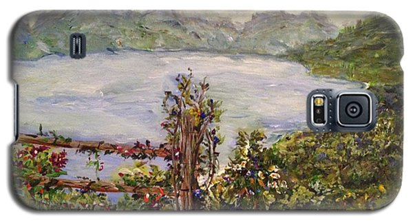 Galaxy S5 Case featuring the painting Lakeview by Belinda Low