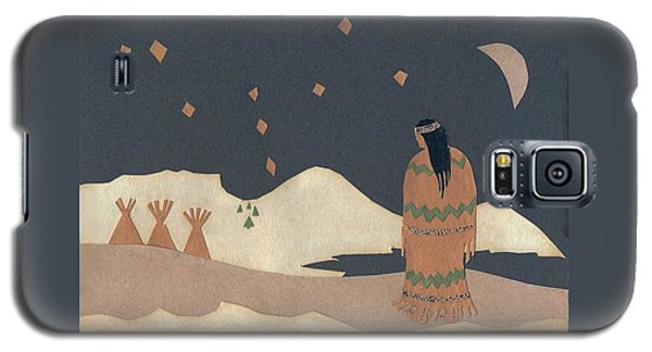 Lakota Woman With Winter Constellations Galaxy S5 Case