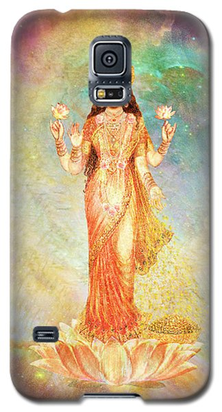 Lakshmi Floating In A Galaxy Galaxy S5 Case by Ananda Vdovic