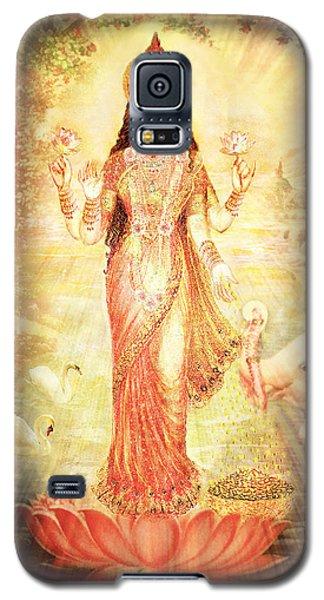 Lakshmi Goddess Of Fortune Vintage Galaxy S5 Case by Ananda Vdovic