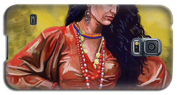Galaxy S5 Case featuring the painting Lala Gypsy Girl by Tim Gilliland