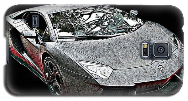Lamborghini Aventador In Matte Black Finish Galaxy S5 Case by Samuel Sheats