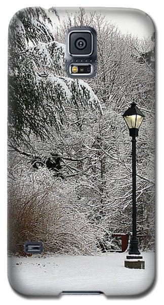 Lamp Post In Winter Galaxy S5 Case