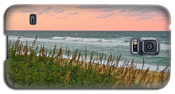 Galaxy S5 Case featuring the photograph Land Meets Sea by Eve Spring