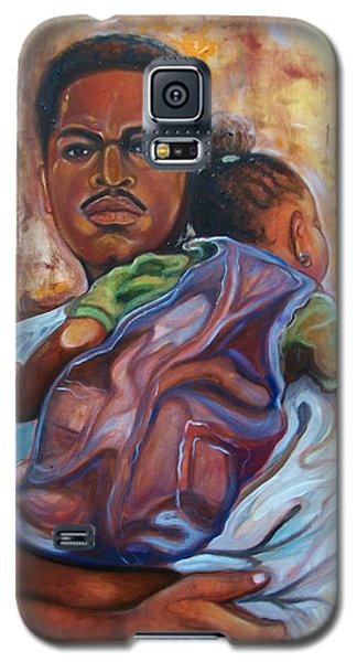 Galaxy S5 Case featuring the painting Land Of Free 2 by Emery Franklin