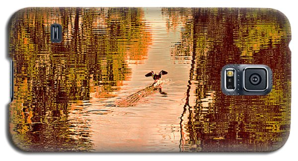 Landing Duck Absrtact Galaxy S5 Case by Leif Sohlman