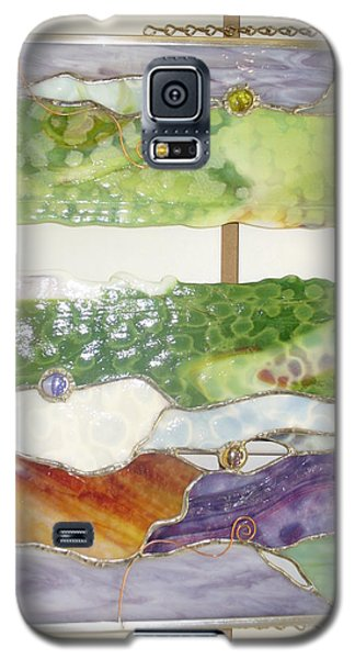 Galaxy S5 Case featuring the glass art Landscape 2 by Karin Thue