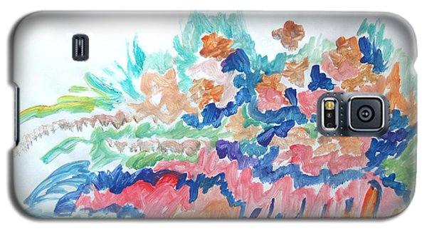 Galaxy S5 Case featuring the painting Landscape Composition by Esther Newman-Cohen