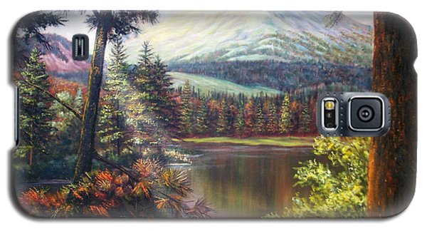 Landscape-lake And Trees Galaxy S5 Case