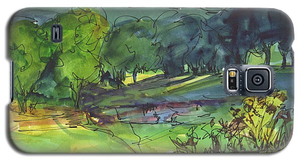 Landscape Lakeway Texas Watercolor Painting By Kmcelwaine Galaxy S5 Case