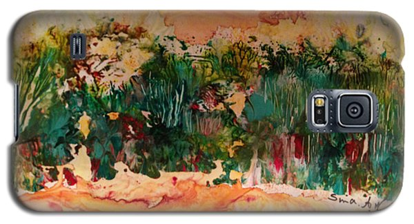 Galaxy S5 Case featuring the painting Landscape Twohundred by Sima Amid Wewetzer