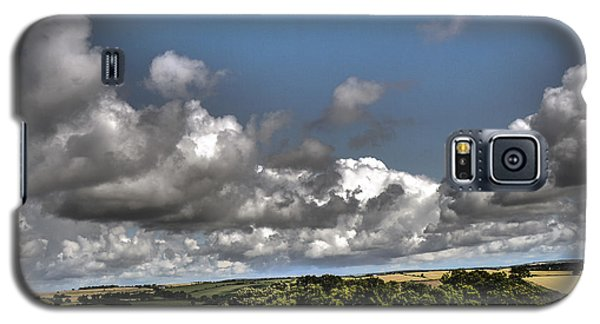 Galaxy S5 Case featuring the photograph Landscape With Clouds by Winifred Butler