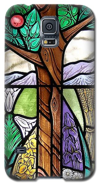 Landscape With Flora Galaxy S5 Case by Gilroy Stained Glass
