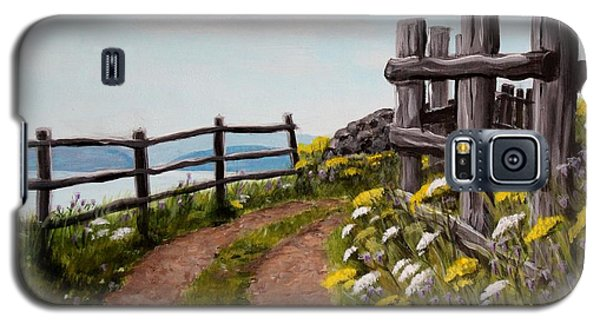 Galaxy S5 Case featuring the painting Lane At Highland Village by Jesslyn Fraser