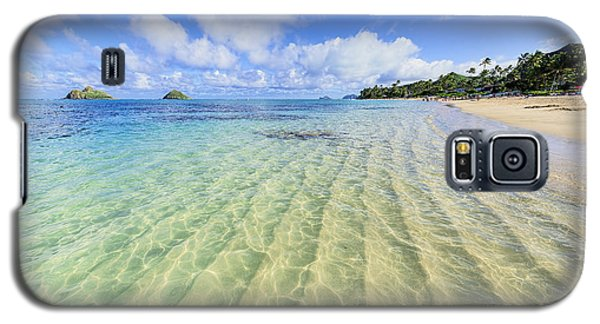 Lanikai Beach Mid Day Ripples In The Sand Galaxy S5 Case