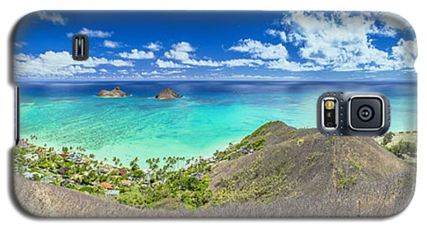 Lanikai Beach Panorama Galaxy S5 Case