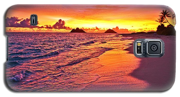 Lanikai Beach Winter Sunrise Rays Of Light Galaxy S5 Case
