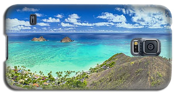 Lanikai Bellows And Waimanalo Beaches Panorama Galaxy S5 Case
