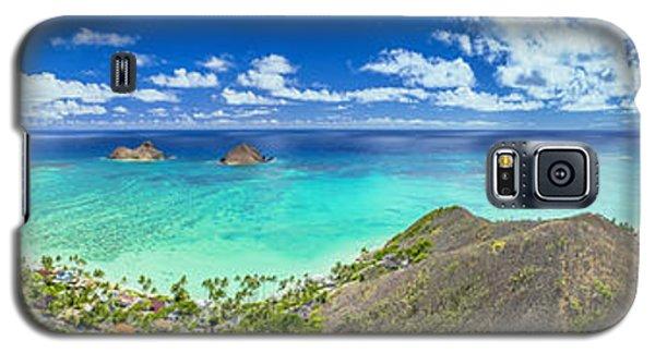 Galaxy S5 Case featuring the photograph Lanikai Bellows And Waimanalo Beaches Panorama by Aloha Art
