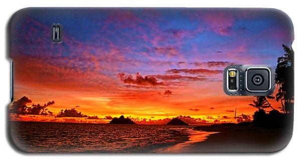 Galaxy S5 Case featuring the photograph Lanikai Winter Sunrise by Aloha Art
