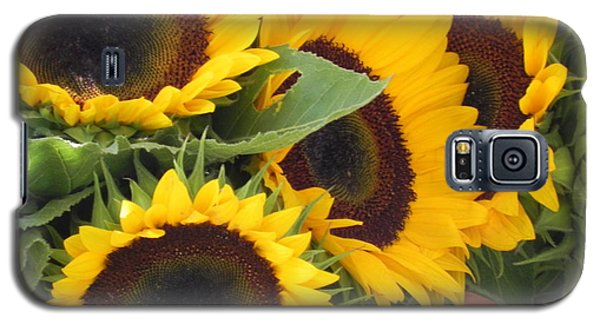 Galaxy S5 Case featuring the photograph Large Sunflowers by Chrisann Ellis