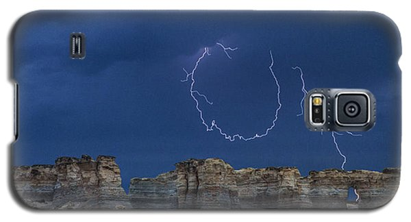Lariat Lightning At Monument Rocks Galaxy S5 Case