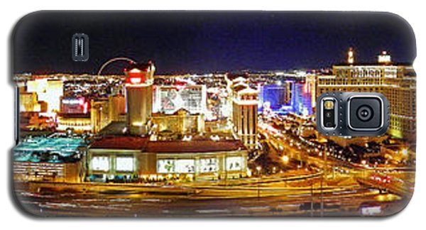 Las Vegas At Night - Panorama Galaxy S5 Case