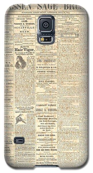 Lassen Sage Brush April 27th 1872 Galaxy S5 Case