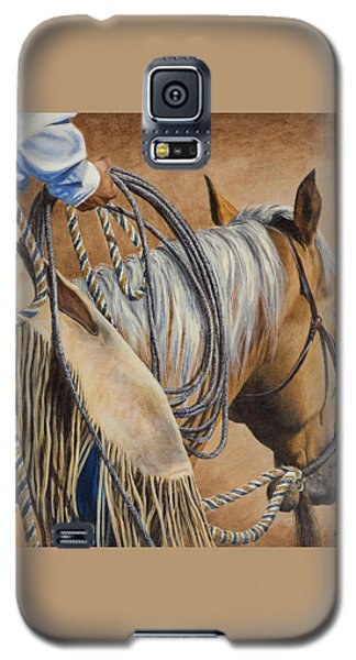 Galaxy S5 Case featuring the painting Lariat And Leather by Kim Lockman