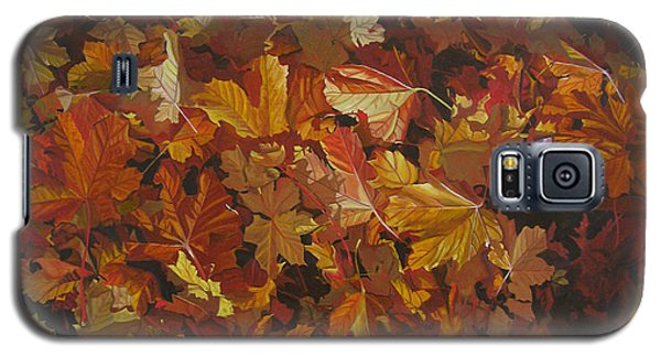 Galaxy S5 Case featuring the painting Last Fall In Monroe by Thu Nguyen