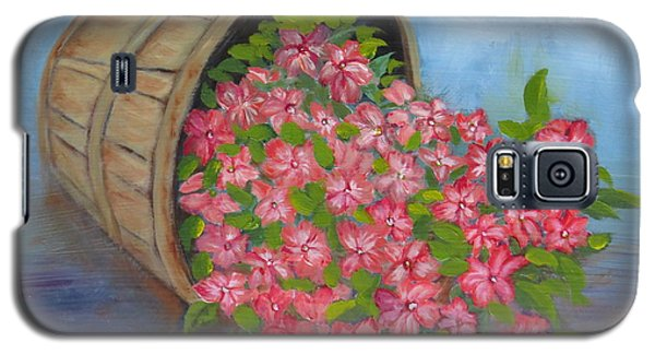 Galaxy S5 Case featuring the painting Last Flowers Of Summer by Sharon Schultz