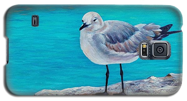 Galaxy S5 Case featuring the painting Last Gull Standing by Susan DeLain