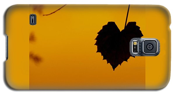 Galaxy S5 Case featuring the photograph Last Leaf Silhouette by Joy Hardee