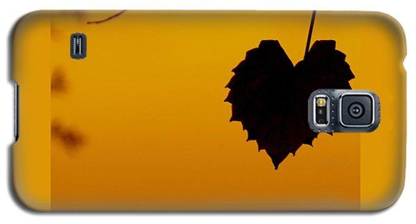 Last Leaf Silhouette Galaxy S5 Case by Joy Hardee