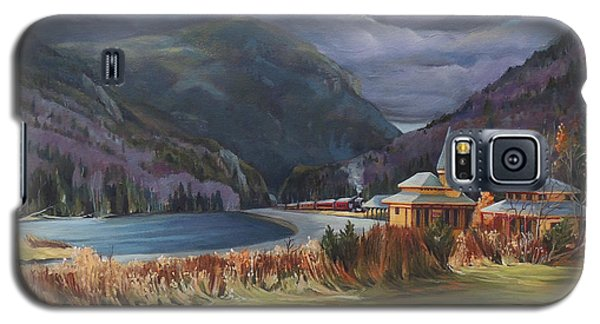 Last Train To Crawford Notch Depot Galaxy S5 Case by Nancy Griswold