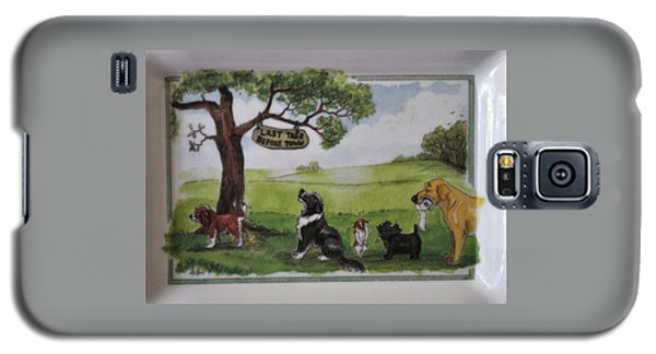 Last Tree Dogs Waiting In Line Galaxy S5 Case by Jay Milo