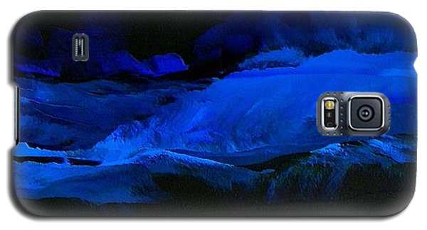 Galaxy S5 Case featuring the painting Late Night High Tide by Linda Bailey