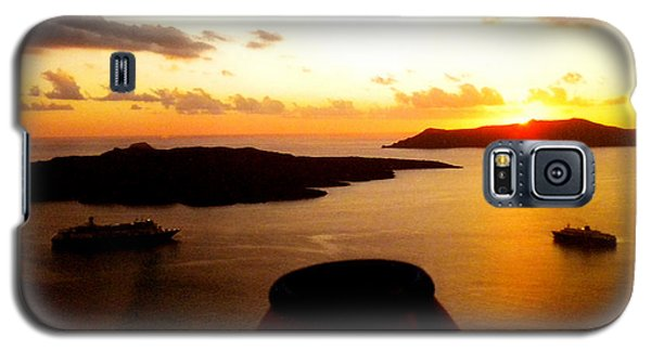 Late Sunset Santorini  Island Greece Galaxy S5 Case