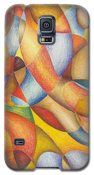 Galaxy S5 Case featuring the drawing Lately I've Been Runnin' On Faith by Rick Ahlvers