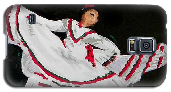 Galaxy S5 Case featuring the painting Latin Dancer by Marisela Mungia