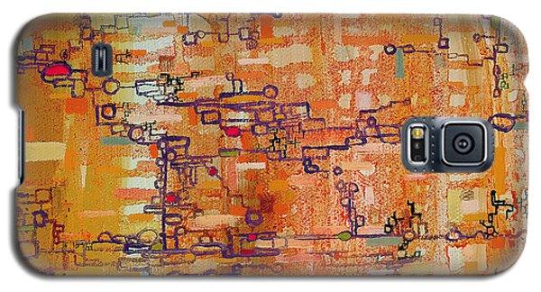 Lattice Animals Abstract Oil Painting By Regina Valluzzi Galaxy S5 Case