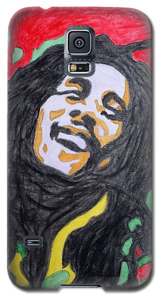Galaxy S5 Case featuring the painting Happy Bob Marley  by Stormm Bradshaw