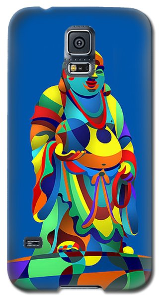 Laughing Buddha Blue Galaxy S5 Case by Randall Henrie