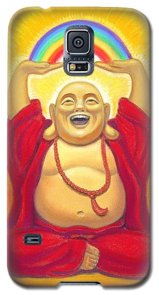 Laughing Rainbow Buddha Galaxy S5 Case by Sue Halstenberg