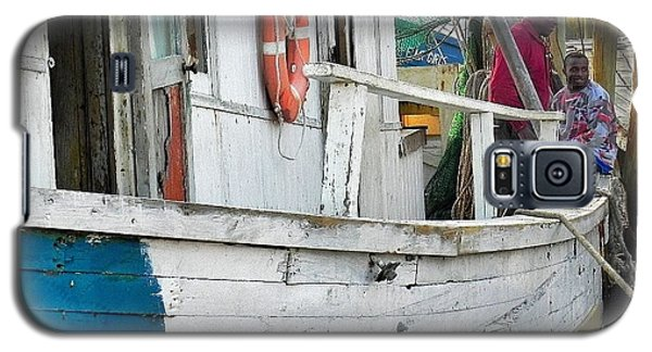 Galaxy S5 Case featuring the photograph Laughs On A Shrimpboat by Patricia Greer