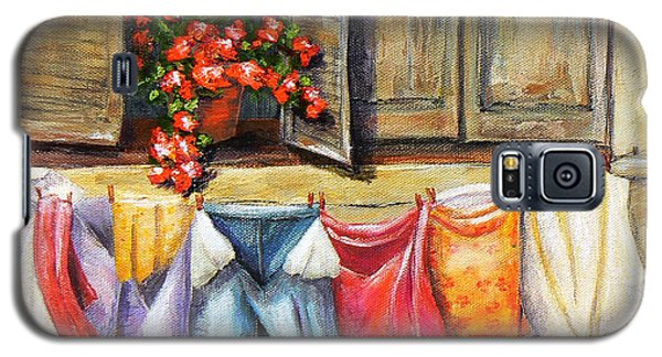 Laundry Day In The Villa Galaxy S5 Case by Terry Taylor